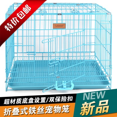 12 provincial shipping pet folding wire fence paint pet cage rabbit cage with tray Teddy cats