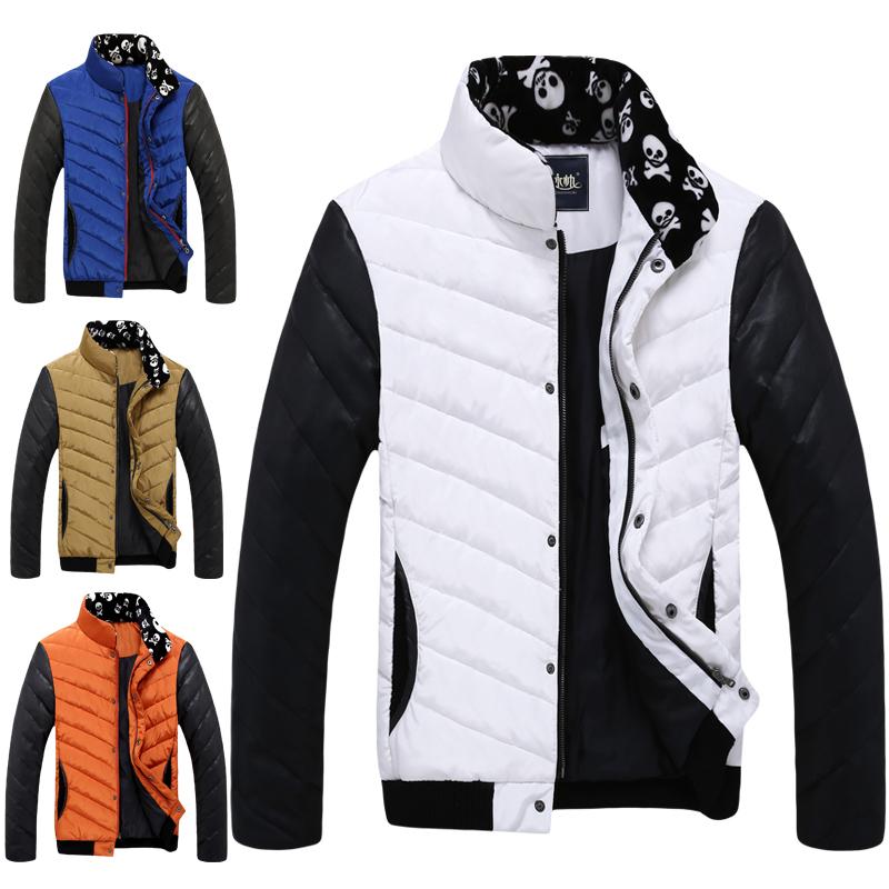 【天天特价】羽绒服男装修身新款韩版短款潮男冬装印花男士外套潮