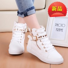 The new 2015 han edition cross strap leisure lace-up round head flat with low flat shoes for women's shoes for canvas shoes