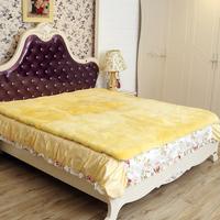 纯羊毛床褥子羊剪绒整张羊皮褥子真皮毛一体床垫1.8米1.5m单双人