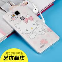 华为荣耀6Plus手机壳荣耀6Plus手机套超薄硅胶透明保护软套卡通潮