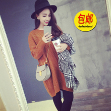 The new winter maternity clothes South Korea retro loose long twist Pregnant women pullovers Pregnant women coat