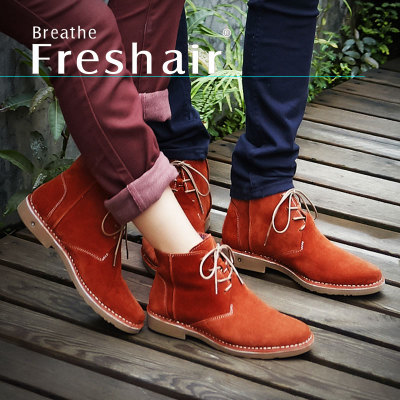 New winter boots leather casual shoes for men of England men's lace-up suede high-top shoes breathable trend