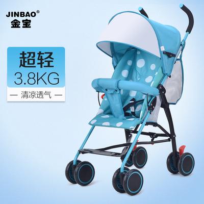 金宝婴儿推车夏季超轻便携折叠避震伞车小宝宝简易手推车儿童