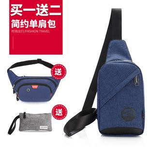 新款胸包男士韩版潮包斜挎包休闲运动小包背包女腰包单肩包男包