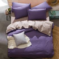 纯棉四件套全棉床品1.8米床上用品纯色简约1.5m床单4件套被套件