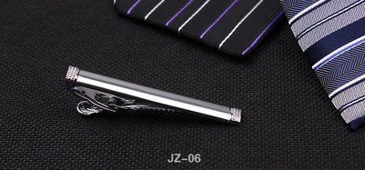 Men's silver alloy business suits tie clip gift box