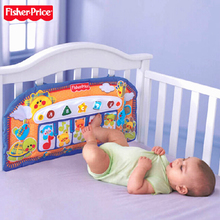 Authentic Fisher Fisher Price toys play baby bed hang music piano C4504 step learning piano