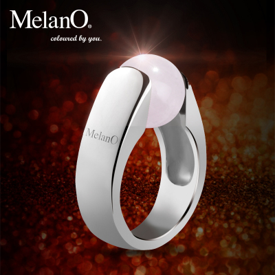 MelanO rose gold plated colored opal gemstone rings exaggerated retro big European and American fashion jewelry female DIY