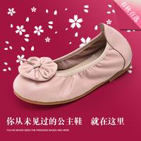 2016春秋新款宝宝蛋卷鞋松紧带单鞋真皮公主鞋儿童皮鞋舞蹈鞋单鞋