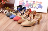成人女摩登包头中空拉丁舞鞋女士镶钻拉丁舞鞋半胶底室外穿广场舞