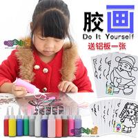 胶画套装 配铝板油膏彩绘烤沙六一儿童节手工制作DIY礼盒玩具包邮