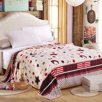 毛毯夏季空调毯加厚双人珊瑚绒毯子毛巾被单人法兰绒午睡盖毯床单