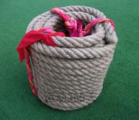拔河绳 黄麻 彩布条拔河绳 25米粗3cm 比赛专用绳 不扎手