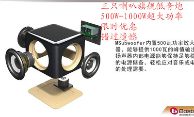 boston msub 美国Boston acoustics Msubwoofer 有源低音炮