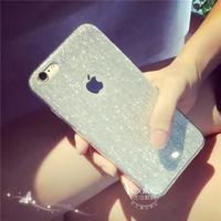 夜店iPhone6plus手机壳苹果6手机壳硅胶5.5闪粉拉丝保护套5s外壳