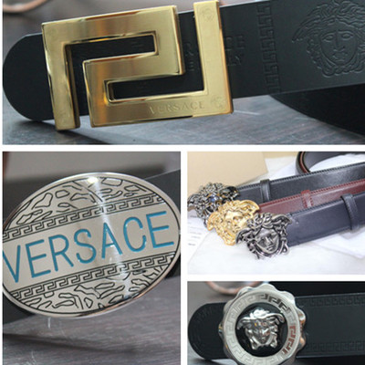 VERSACE / Versace belt Fila Men's belt Leather Belt US Dushakeluo heart belt