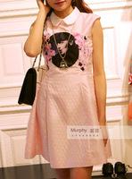2015夏 太平鸟女装专柜代购A1FA5217111贴布绣连衣裙 A2FA5217111