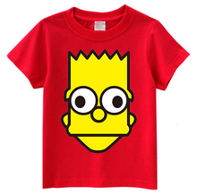 Miss zhang leisure loose straight T-shirt cute cartoon printed Simpson round collar couples with short sleeves
