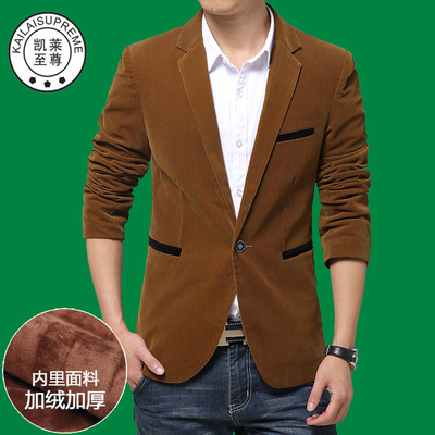 kailaisupreme corduroy men cultivating small suit jacket corduroy suit 2014 Korean new wave
