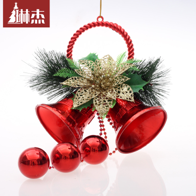 Lin Jie 15CM wide 35CM Christmas bells Christmas tree ornaments Christmas bells double decorative items