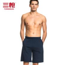 三枪家居裤夏季纯棉男士睡裤宽松薄款休闲外穿纯色运动家居短裤男图片