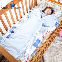 凯芙兰 婴儿睡袋被子两用纯棉春秋冬款宝宝睡袋儿童防踢被可拆洗