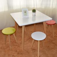 厂家直销包邮时尚餐桌会客桌咖啡桌简约餐桌椅欧式实木方桌洽谈桌