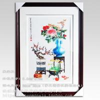 苏绣成品 刺绣 纯手工 百财 牡丹 中国风 外事礼物送外宾 礼物品