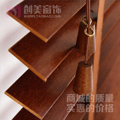 Imported basswood wood blinds custom waterproof bedroom living room kitchen balcony windows and blinds shutters