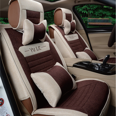 Car Seat Four Seasons General new linen whole package cushions Sunny Regal Sagitar IX25 K5 car mats