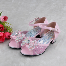 Han edition 3 girls sandals, the new 2015-12 year old girl high-heeled sandals students performing shoes children sandals package mail