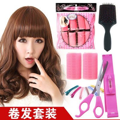 Beauty does not hurt the hair curlers magic kit containing bangs cut bangs curlers volume Sleeping balloon comb clip