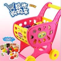 儿童玩具新装迷你版购物车 仿真手推车超市购物车 学步车过家家