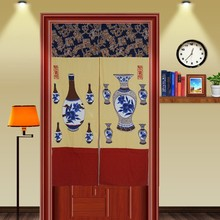 Package mail sent telescopic rod Poly (Japanese import of feng shui, door curtain cloth art Taiwan 85 x145 Aquarius