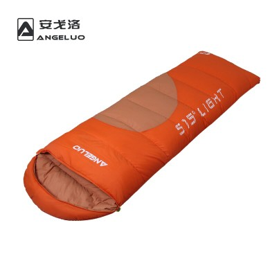Adult duck down thick warm down sleeping bag envelope style upscale outdoor camping couple new fashion splicing