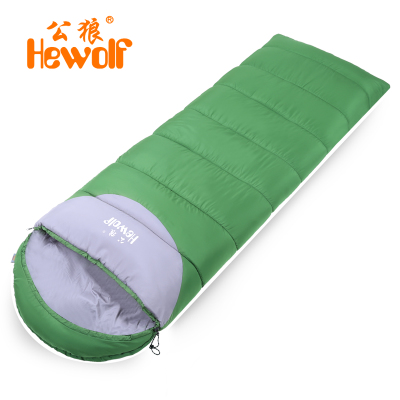 Adult male wolf outdoor camping ultralight sleeping bag sleeping bag liner winter indoor warm sleeping bag lunch can be spliced