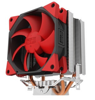 Brass radiator new cpu overclocking three Red Sea multi-platform S98 dual heat pipe radiator fan damping