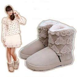 [幸运大抽奖] 2015年冬季新款爱心雪地靴女鞋短靴保暖防水毛毛棉靴女靴子