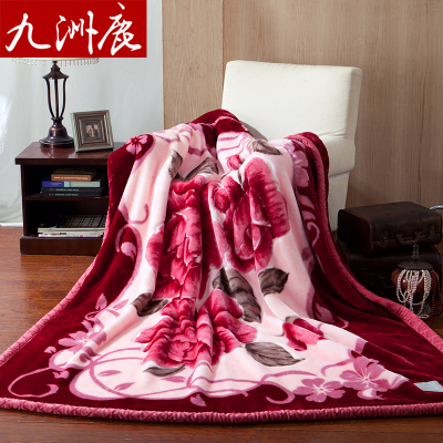 Jiuzhou deer textile double thick Raschel Blanket sub single or double thick carpet of autumn and winter blankets