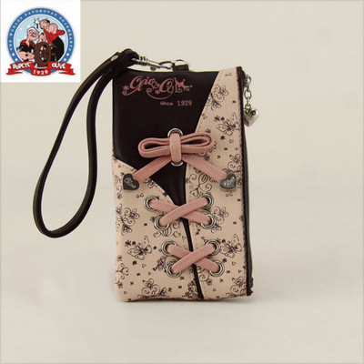 Ao Liwei genuine sweet bow girls 5-inch large-screen phone bag Korean hit color cute short paragraph purse