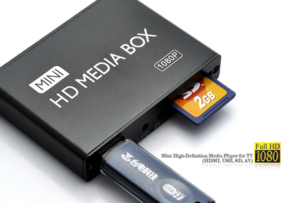 Mini HDMI 1080P Full HD Media Player w/HDMI/USB/SD/AV MP013