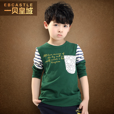 A Bay Imperial Kids Autumn boys long-sleeved T-shirt round neck T-shirts for children kids new Spring and Autumn 2014