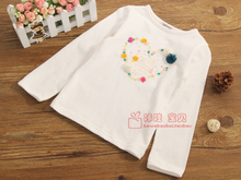 South Korean brand children's clothing perimitz basis Joker cotton long sleeve T-shirt render White coat T2