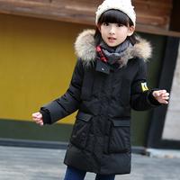 巴拉巴拉冬装新款宝宝女童羽绒服中长款加厚中大童儿童羽绒服外套