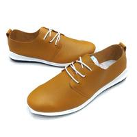 包邮男款日常休闲鞋韩版潮流软底软面皮鞋低帮系带套脚一脚蹬1509