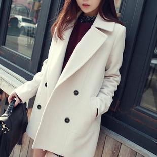 2018女装春装中长款韩国冬季呢子大衣春秋毛呢外套女学生