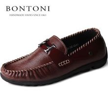 BONTONI leather authentic breathable doug shoes trend line of men's shoes casual shoes ship son 10042 men's leather shoes
