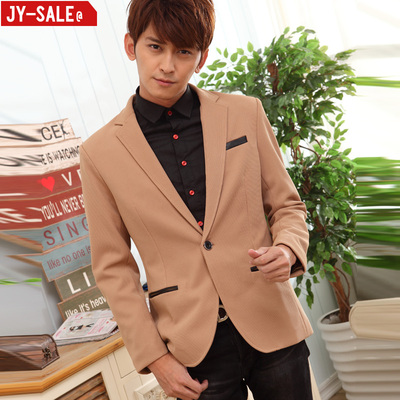 JY new men's casual suit jacket Slim stretch knit iron men's small suit male Korean teenagers tide