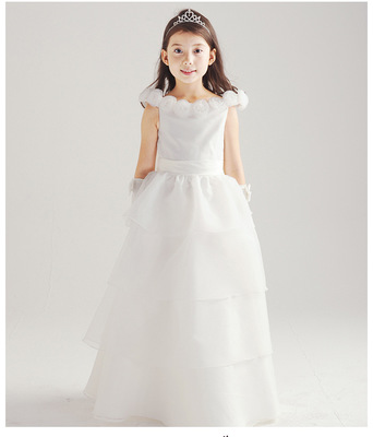 Quality kids girls Princess long Layered dress T340 skirt